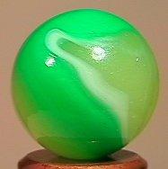 "84019 BB Marbles: Akro Limeade 23/32"" 9.3 AKRO AGATE CO"