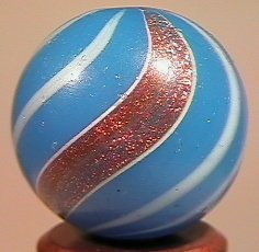 """84279 BB Marbles: Banded Lutz 25/32"""" 8.5 LUTZ, Banded."""