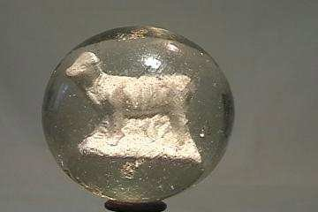 """87002 BB Marbles: Cow Sulphide 1-15/16"""" 7.6"""