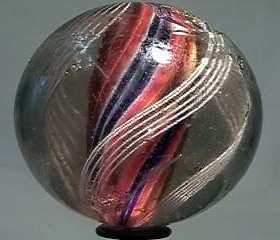 """87016 BB Marbles: Divided Core Swirl 2-1/16"""" 7.5"""