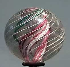 """87021 BB Marbles: Divided Core Swirl 1-11/16"""" 8.0"""