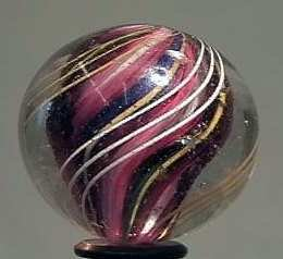 """87024 BB Marbles: 3-Layer Solid Swirl 1-3/8"""" 8.9"""