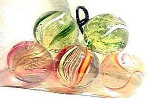 87122 BB Marbles: 5 Latticinio Swirls