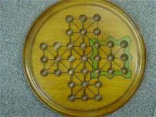 87283 BB Marbles: Antique English Solitaire Board
