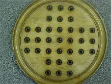 87286 BB Marbles: Antique English Solitaire Board