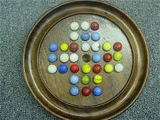 87295 BB Marbles Walnut Solitaire Game