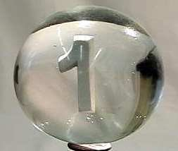 "88009 BB Marbles: Italian Numeral Sulphide ""1"""
