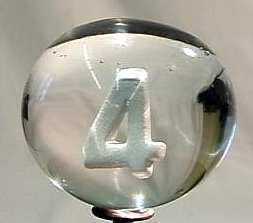 "88011 BB Marbles: Italian Numeral Sulphide ""4"""