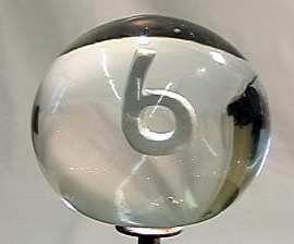 "88012 BB Marbles: Italian Numeral Sulphide ""6"""