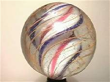 """10040: BB Marbles: Solid Core Swirl 2-1/8"""" 7."""
