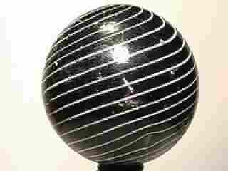 "09040: BB Marbles: Black Clambroth 1-7/8"" 8.0"