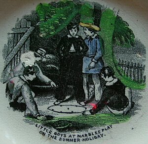 13215: BB Marbles: Victorian Alphabet Plate