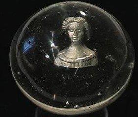 "89004: 89004 BB Marbles: Jenny Lind Sulphide 2-1/16"" Bu"