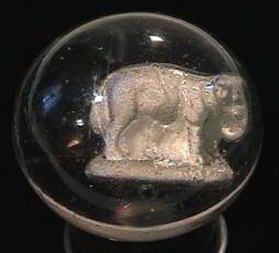 89014: 89014 BB Marbles: Elephant Sulphide 8.9