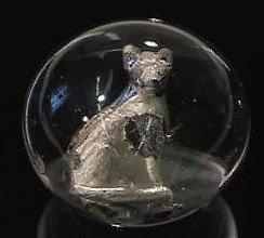 89018: 89018 BB Marbles: Handpainted Dog Sulphide Polis