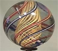 """89051: 89051 BB Marbles: Latticinio Swirl 1-15/16"""" 9.2"""