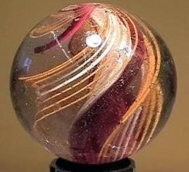 "90001 BB Marbles: Ribbon Core Swirl 2-1/16"" Buffed"