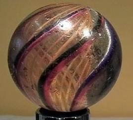 """90002 BB Marbles: Latticinio Swirl 2-1/8"""" 7.9"""