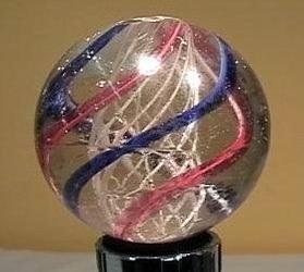 """90003 BB Marbles: Latticinio Swirl 1-15/16"""" Buffed"""
