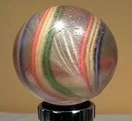"""90005 BB Marbles: Latticinio Swirl 1-15/16"""" 8.0"""