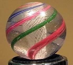 """90016 BB Marbles: Latticinio Swirl 1-1/16"""" 8.0"""