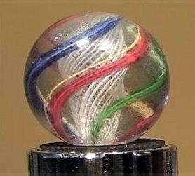 """90019 BB Marbles: Latticinio Swirl 1-1/16"""" 8.2"""