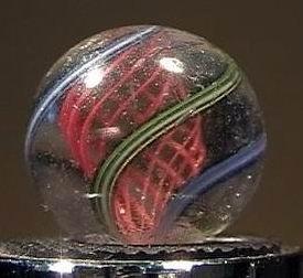 """90020 BB Marbles: Red Latticinio Swirl3/4"""" 7.9"""