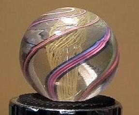 """90024 BB Marbles: Latticinio Swirl 15/16"""" 8.6"""