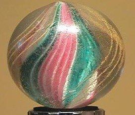 """91002 BB Marbles: Ribbon Swirl 1-11/16"""" 8.8"""