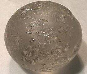 "92002 BB Marbles: Polar Bear Sulphide 2"""