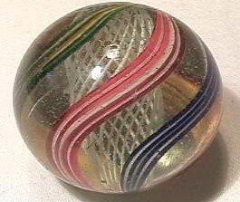 """92004 BB Marbles: Latticinio Swirl 1-9/16"""" 9.1"""