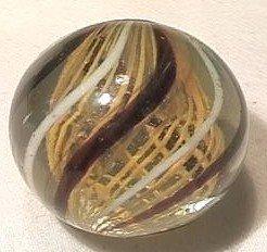 """92014 BB Marbles: Latticinio Swirl 1-1/4"""" 9.7"""