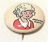 92241 BB Marbles: Kellogg's Orphan Annie Pep Pin