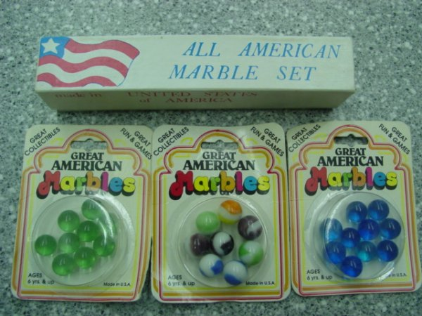 93007 BB Marbles: 4 Great American Marble Co pkgs