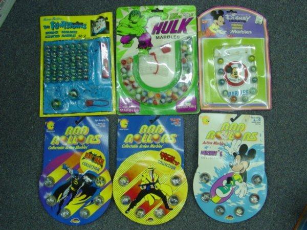 93008 BB Marbles: Six Trademark Blister Packs