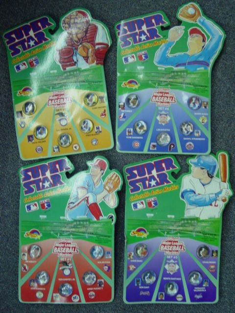 93010: 93010 BB Marbles: 5 Super Star Baseball Rad Roll