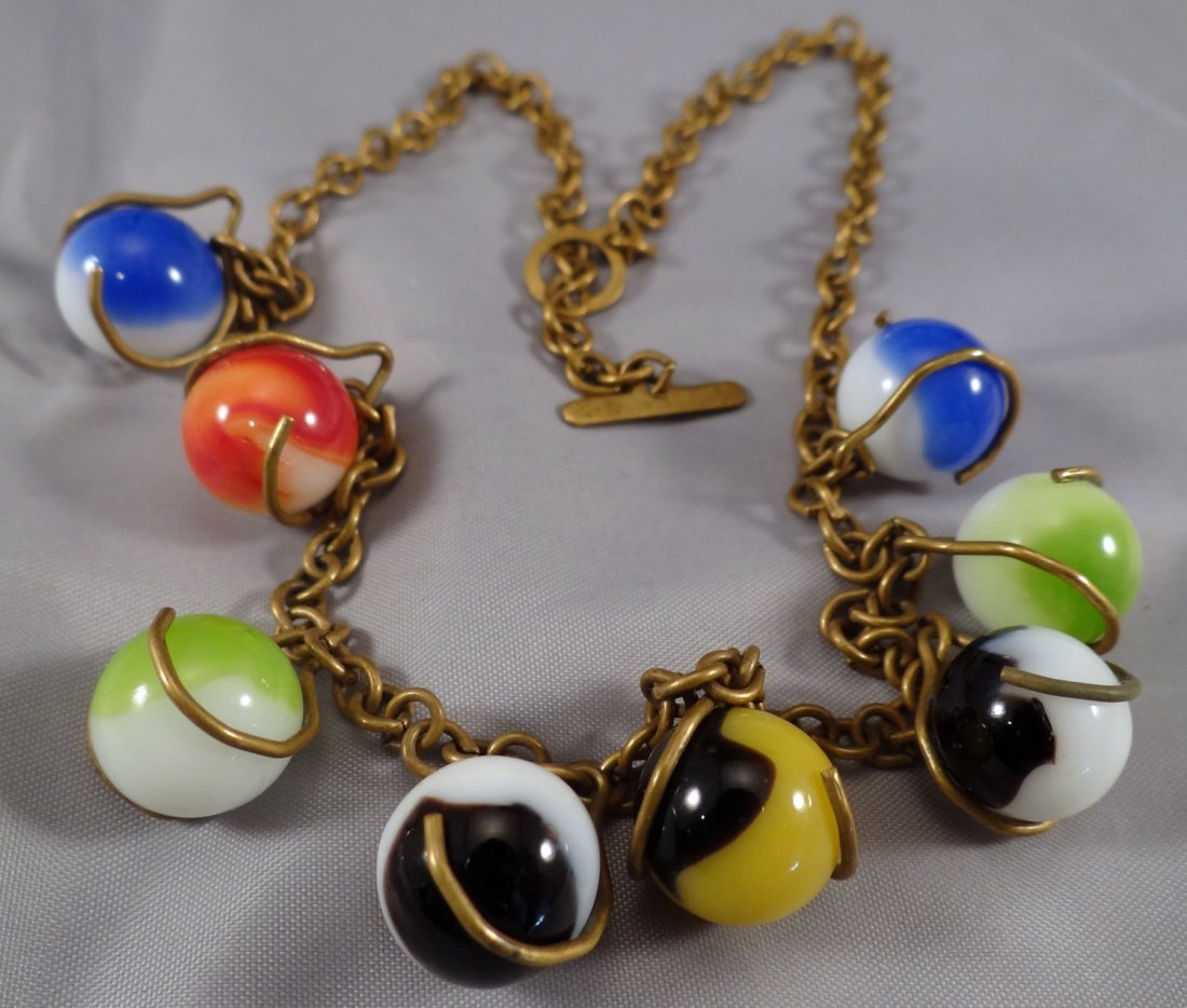 Lot 24. Marble Necklace. 1930s.