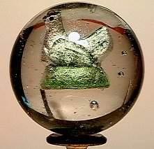 65001 BB Marbles: Handpainted Hen Sulphide