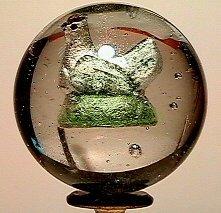 1: 65001 BB Marbles: Handpainted Hen Sulphide