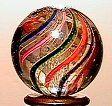 65018 BB Marbles: Latticinio Core Swirl