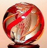 23: 65023 BB Marbles: Latticinio Core Swirl