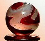 66013 BB Marbles: Akro Silver Oxblood
