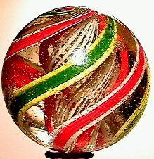 66017 BB Marbles: 3-Layer Latticinio Core Swirl