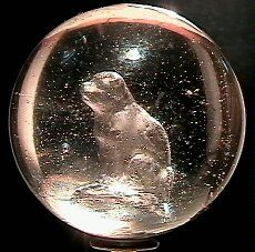 66018 BB Marbles: Seated Dog Sulphide