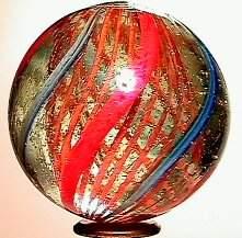 66019 BB Marbles: Orange Latticinio Core Swirl