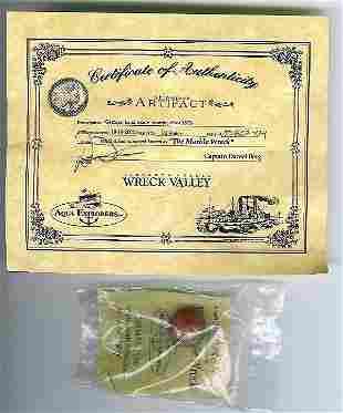 66020 BB Marbles: Onionskin form Shipwreck w/COA