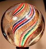 2355: 66355 BB Marbles: Latticinio Core Swirl
