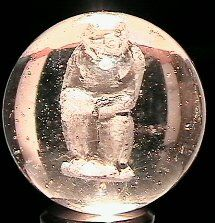 66413 BB Marbles: Sulphide Seated Monkey