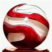 11018: 64018 BB Marbles: Akro Silver Oxblood