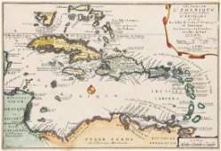 de Fer, Nicolas Les Isles de L'Amerique ... d'Antilles